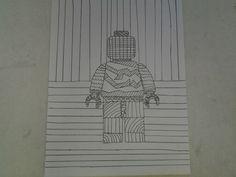 Tekenen lijnen lego poppetje