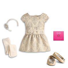American Girl Brocade Holiday Dress for Dolls - MY AG 2013 (Doll Not Included)
