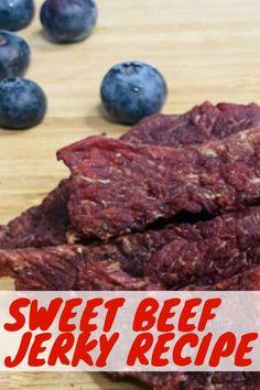 Sweet Beef Jerky Recipe: A Sugary Twist on a Meaty Treat - Beef Jerky Hub Beef Jerky Marinade, Venison Jerky Recipe, Recipe Marinade, Smoked Beef Jerky, Sweet And Spicy Beef Jerky Recipe Dehydrator, Venison Roast, Sweet Deer Jerky Recipe, Brown Sugar Beef Jerky Recipe, Sweet And Spicy Jerky Recipe