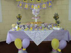 Baby Shower Yellow and Purple