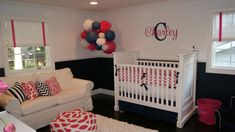 The balance of colors is perfectly incorporated through great accents. #nursery