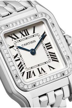 d780dc93ccb Cartier - Panthère de Cartier medium 18-karat rhodiumized white gold  diamond watch