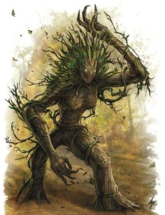 Tree Monster, Plant Monster, Monster Art, Forest Creatures, Fantasy Creatures, Mythical Creatures, Creature Concept Art, Creature Design, Fantasy World