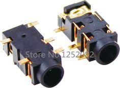 20 Unids 3.5mm conector de Auriculares Estéreo de Audio Femenino Del Conector de 5 Pin SMT SMD PJ-327A