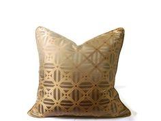 ELEGANT Designer 16x16 Bronze Throw Pillow Cover. TOSS Cushion Cover. HOME Decor Throw Pilow Covers.