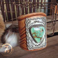 The Ketoh Cuff -- unbelievably gorgeous!!!  #turquoise #Navajo #savannah7s #savannahsevens #SOgorgeous #leatherlove
