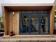 4m x 3m Pinnacle garden room - with good sound-proofing properties, the pod makes a great music room