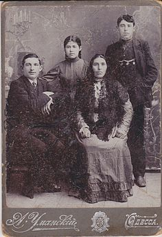 Russian Odessa Photo of A Jewish Family