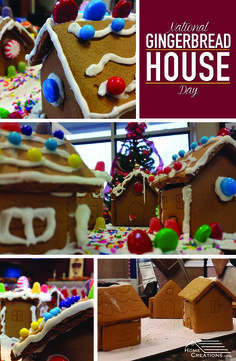 Celebrating National Gingerbread House Day at Home Creations.
