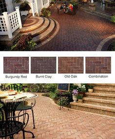 The best in stone pavers and masonry supplies. Copthorne concrete brick pavers are super-strong and sport a unique, antique appearance. Concrete Bricks, Brick Pavers, Retaining Wall Pavers, Manufactured Stone, Cape Cod, Burgundy, Patio, Outdoor Decor, Home Decor