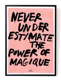Power of Magique art print