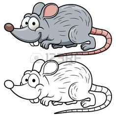 illustration of cartoon rat