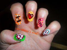 I ♡ Pizza Nails