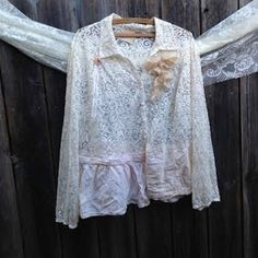 dreamy texas romantic ecru ivory peach lace cottage by kateblossom