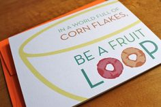 Be a Fruit Loop Card, $4.00 by Colette Paperie