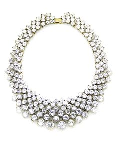 Look at this #zulilyfind! Goldtone Crystal Clear Statement Necklace by Eye Candy LA #zulilyfinds
