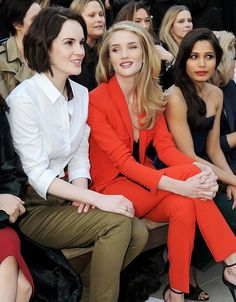 michelle dockery, rosie huntington-whiteley, and freida pinto. all gorgeous women!