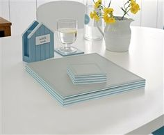 Buy Set Of 4 Reversible Faux Leather Mats and Coasters from the Next UK online shop Coasters, New Homes, Colours, Interior Design, Uk Online, Well Dressed, Leather, House Ideas, Living Room