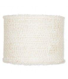 Juteband breed dik Off white 8 cm +/- 10 m
