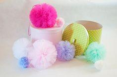 Tiulowe pompony w Dandelion_Props na DaWanda.com