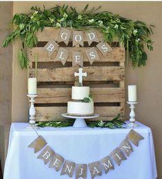 Haz que la celebración de bautizo de tu hijo sea un día especial con este tip de decoración. #bautizo #decoracion