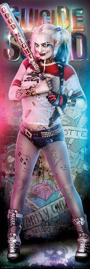 Harley Quinn Suicide Squad Door Poster