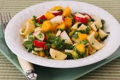 Mango Salad Recipe with Hearts of Palm, Radishes, Lime, and Cilantro  [from Kalyn's Kitchen]
