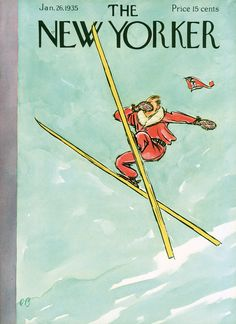 Cover of the January 26, 1935 issue of the New Yorker, illustration by Perry Barlow.
