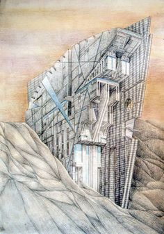 The Architectural Review Drawings Folio / Military facility in the desert