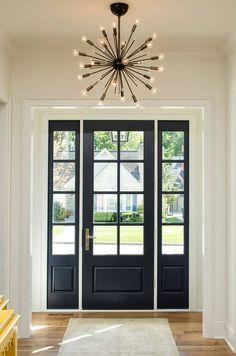 70 best modern farmhouse front door entrance design ideas in Front Door Entrance, Exterior Front Doors, Front Door Colors, Front Entry, Kitchen Near Front Door, Porch Doors, Wall Exterior, Kitchen Doors, Modern Exterior