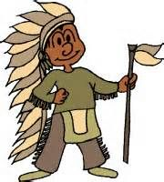 Vector Cartoon Clipart of a Black and White Cute Native American ...