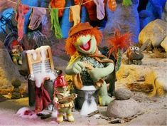 Boober Fraggle doing laundry Nostalgia, Clever Dog, Underground World, Fraggle Rock, Beautiful Places To Live, Kids Growing Up, The Dark Crystal, I Remember When, Jim Henson