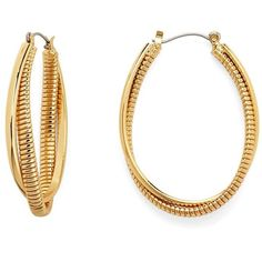DIANE VON FURSTENBERG Oval Twist Hoop Earring ($78) ❤ liked on Polyvore featuring jewelry, earrings, accessories, gold plated, twisted hoop earrings, diane von furstenberg jewelry, twist earrings, hoop earrings and twist jewelry