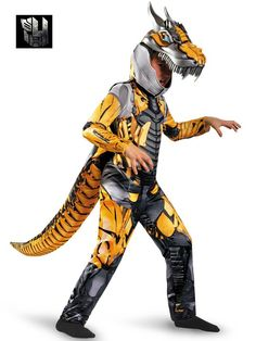 Check out Boy's Transformers 4 Grimlock Deluxe Costume - TV & Movie Boys Costumes from Wholesale Halloween Costumes