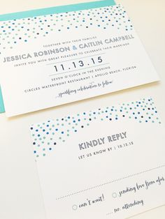 Wedding Invitation Sprinkle Design by dhfitzgeralddesigns on Etsy