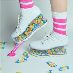 Transparent Platform Shoes (Customizable) is part of Shoes - store credit 😘White Market USA www whitemarket info Pretty Shoes, Cute Shoes, Me Too Shoes, Emo Shoes, Women's Shoes, Fall Shoes, Shoes Style, Kawaii Shoes, Kawaii Clothes