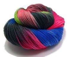 Quirky Caterpillar 100g Merino Nylon 4ply Sock Hand Dyed Yarn /'Beachcomber/'