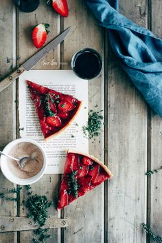Roasted Strawberry & Thyme Tart — Two Loves Studio | Food Photography