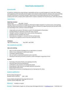 Retail cv template sales environment sales assistant cv for Innenarchitektur schulabschluss