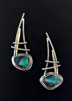 Earrings by Elaine Rader