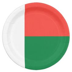 Shop Madagascar Flag Paper Plate created by wowsmiley. Paper Napkins, Paper Plates, Wedding Invitation Wording, Invitation Cards, Madagascar Flag, National Flag, Dog Bowtie, Baby Shower Games, Flags