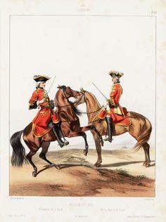 1745. Louis XV. Maison du Roi: Gendarme de la Garde; Chevau-léger de la garde