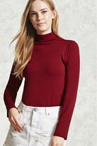 FOREVER 21  Micro-Ribbed Turtleneck Top
