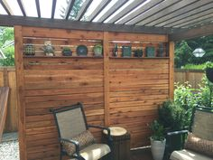 Unique Ideas of Outdoor Privacy Screen. ✓ Unique Ideas of Outdoor Privacy Screen [Images] Outdoor Decor, Small Pergola, Privacy Wall On Deck, Privacy Fence Designs, Building A Deck, Privacy Screen Outdoor, Cool Walls, Patio Privacy Screen, Privacy Screen Deck