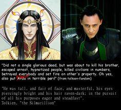 Loki always seemed to be a little bit Feanor-like