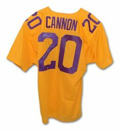 Billy Cannon Autographed LSU Tigers Throwback Jersey Inscribed