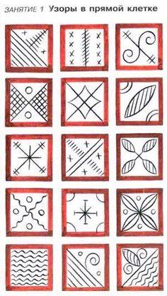 Картинки по запросу мезенские росписи иллюстрация
