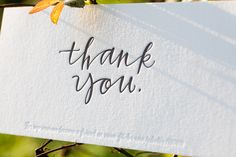 Calligraphy Letterpress Thank You Notes