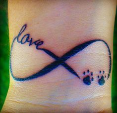 Tattoo infinity love of dog