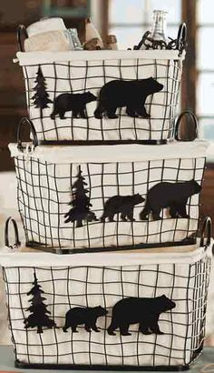 Save - on Cabin Bedding and Cabin Decor at Black Forest Decor, and find lodge bedding and bear accessories for all your rustic decorating ideas! Mountain Cabin Decor, Rustic Cabin Decor, Western Decor, Rustic Cabins, Rustic Wood, Barndominium, Cabin Homes, Log Homes, Southwest Style
